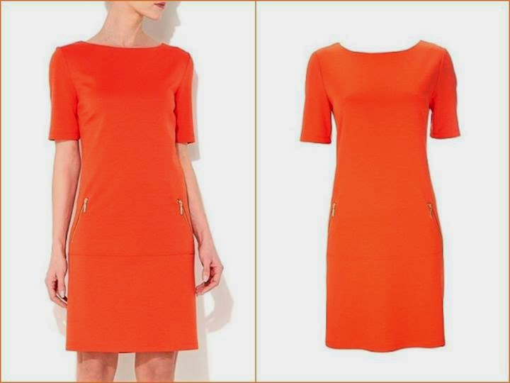classic Orange Wallis dress