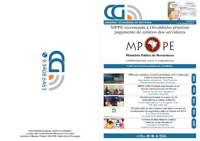 MPPE recomenda a Osvaldinho priorizar pagamento de salário de servidores