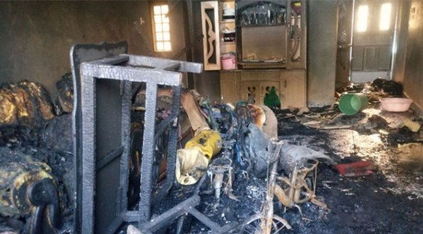 Photos: Kenyan man kills his wife, three children, doused himself in petrol and burnt down their house