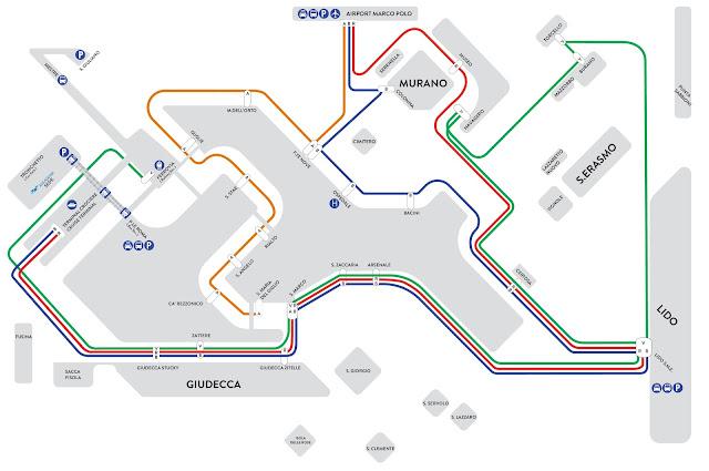Mapa barco aeropuerto a Venecia