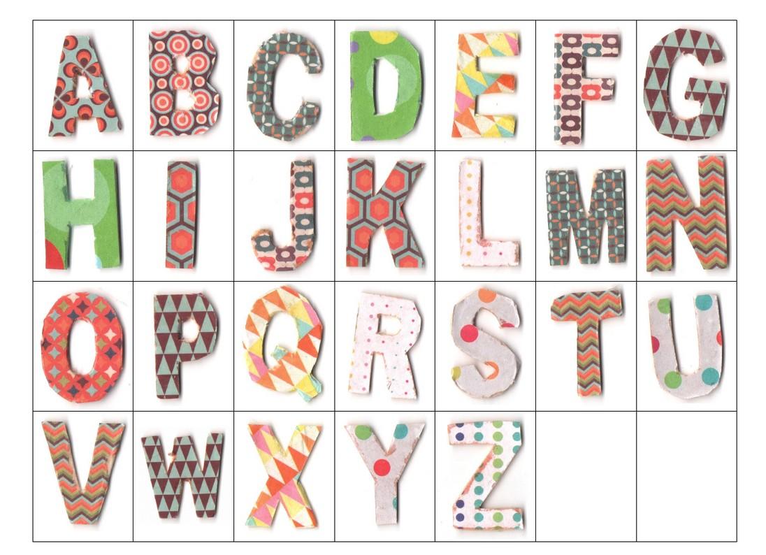 Bibouche en classe alphabet d cor et recomposition du pr nom en ms - Lettres de l alphabet a decorer ...