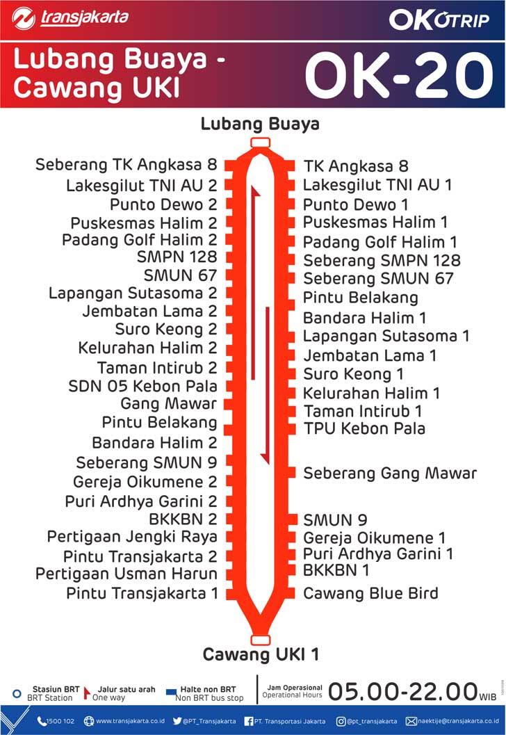 peta rute transjakarta lubang buaya cawang uki