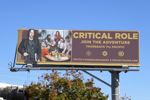 Critical Role TV billboard