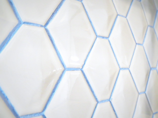 custom blue grout