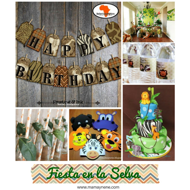 FIESTA-TEMATICA-SELVA-JUNGLE-PARTY-NIÑOS-KIDS-MAMAYNENE