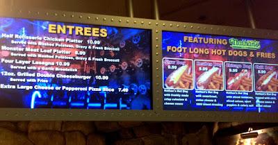 Universal Studios' Classic Monsters Cafe , menu