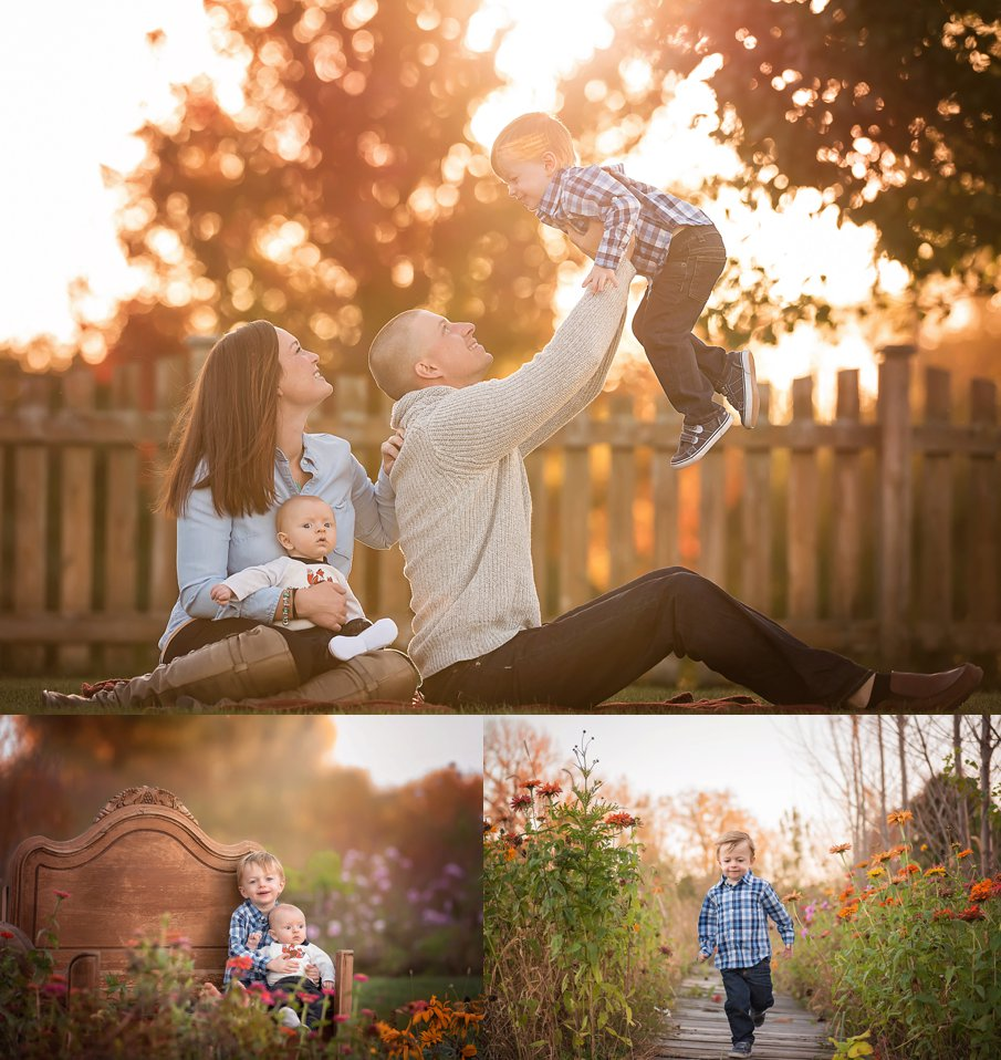 Top Rockford IL and DeKalb IL Newborn Child and Family Photographer Outdoor stuido