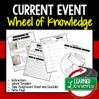 Current Events, Progressive Era, American History Activity, American History Interactive Notebook, American History Wheel of Knowledge