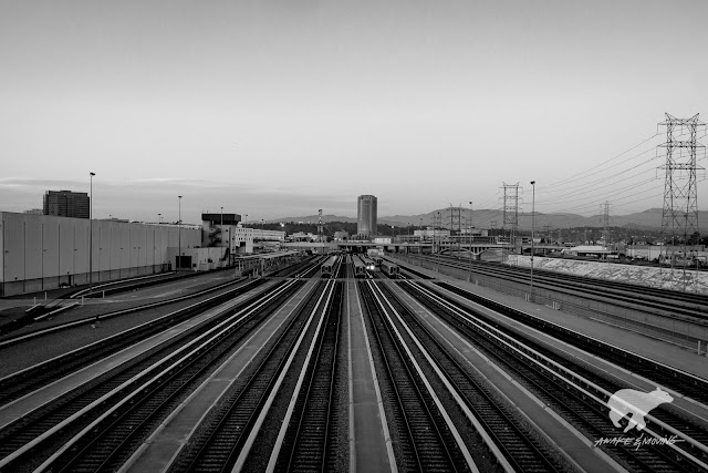 Trains in LA. Los Angeles, CA.