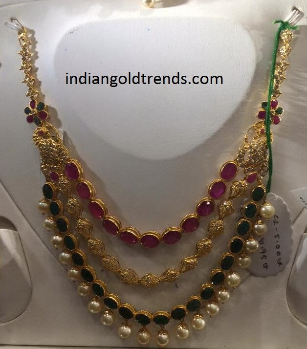 50grams Ruby Emerald Necklace