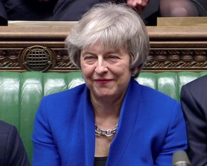 U.K. Prime Minister, Theresa May narrowly survives vote of no-confidence following her massive Brexit defeat