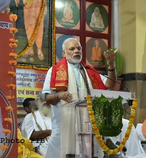 PM Narendra Modi addressing the gathering, at Gorakhnath Mandir, in Gorakhpur