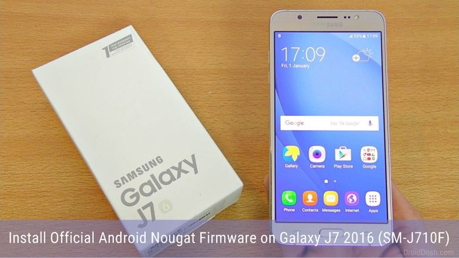 Android Nougat Firmware for Galaxy J7 2016 SM-J710F