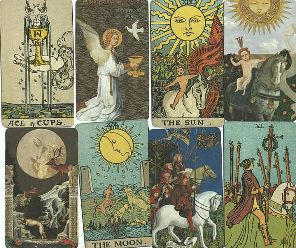 Golden Tarot by Kat Black, comparison