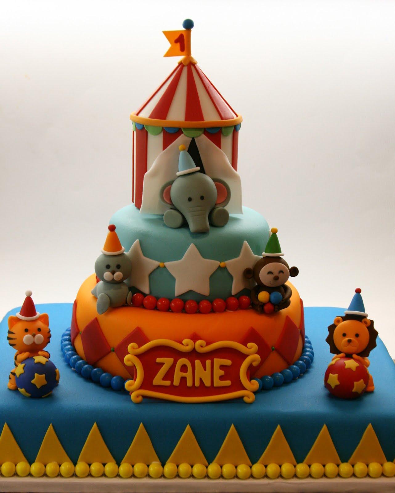 Beautiful Kitchen Circus Cake For Zane S 1st Birthday
