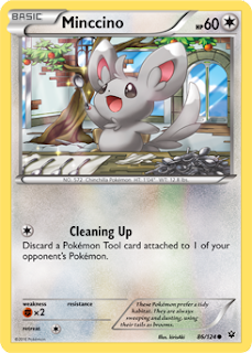 Mincinno Fates Collide Pokemon Card