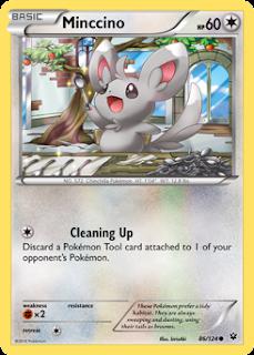 Mincinno Fates Collide Pokemon Card