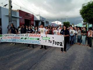 Caminhada marcou o 18 de maio em Baraúna