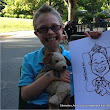 "Laurel Hawkswell - Edmonton Artist: Edmonton Caricatures at ""Dreamnight at the Zoo"" 2015"