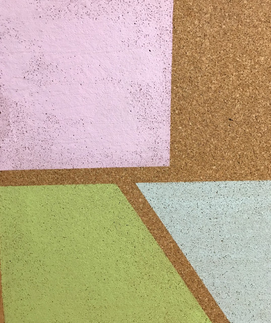 Give a plain cork board a pop of color with paint!