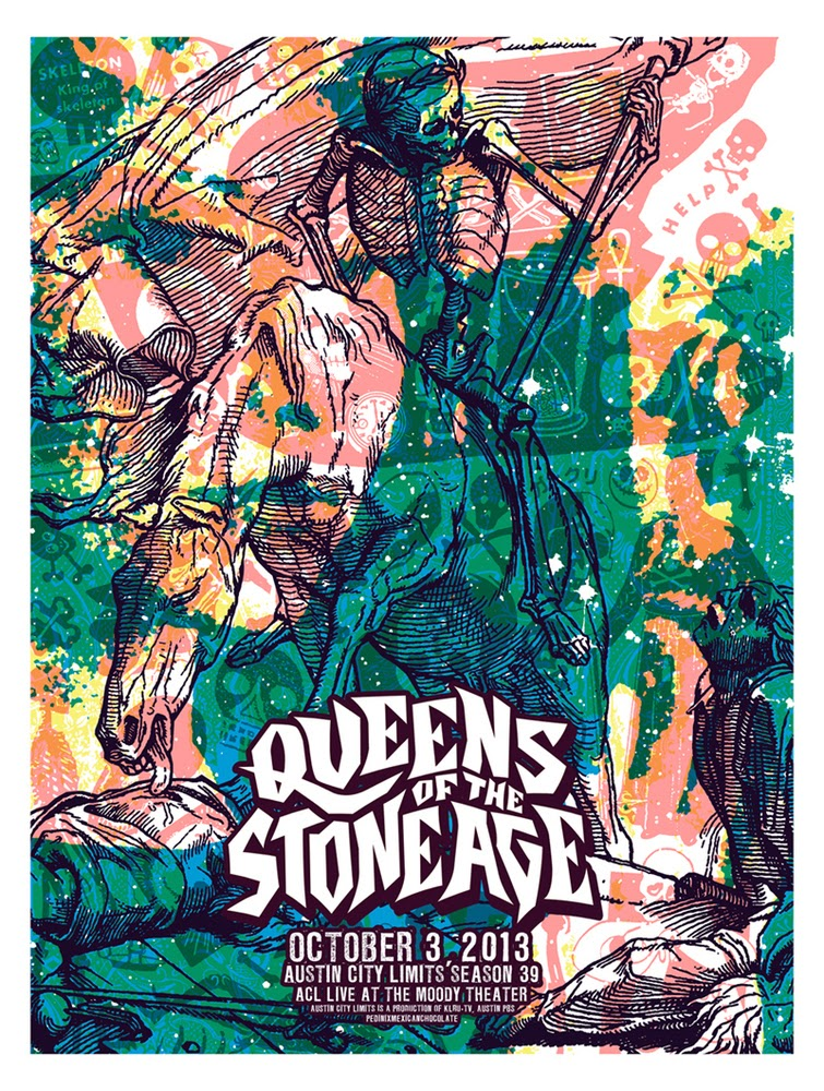 queens of the stone age austin city limits poster by jared conner mark pedini
