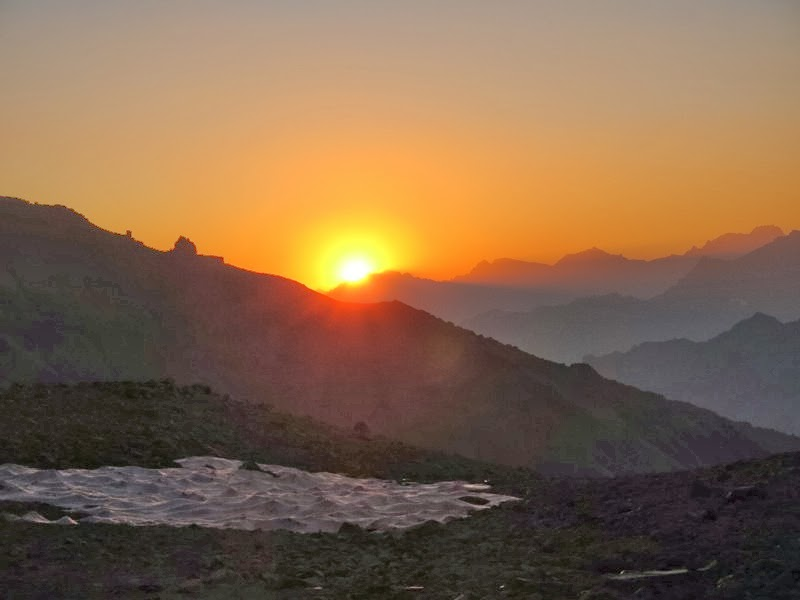 Sonnenuntergang (Verfremdung dank Picasaweb...)