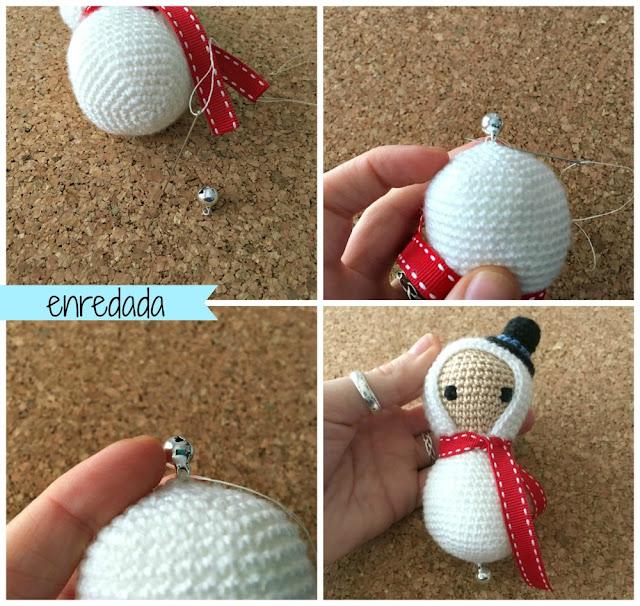 enredadaen.blogspot.com.es/christmas ornaments/muñeco de nieve