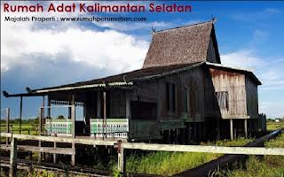 Desain Bentuk Rumah Adat Kalimantan Selatan dan Penjelasannya, Rumah adat suku Banjar Kalsel