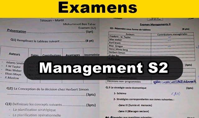 Management S2 Examens