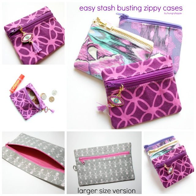How to Sew a Zippy Pouch with scrap fabric