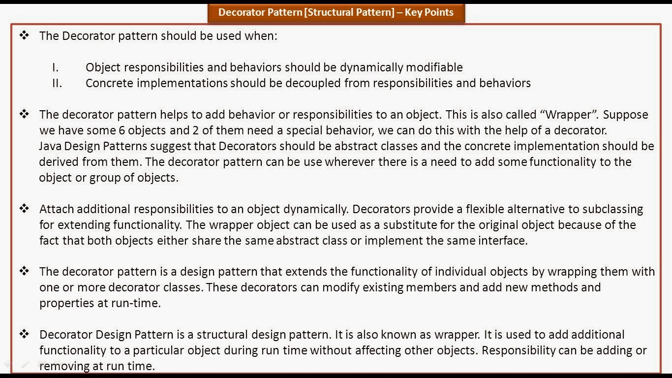 Decorator Design Pattern Real Time Example