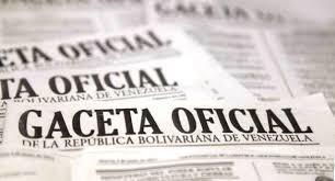 Véase SUMARIO Gaceta Oficial Nº 41624 2 de mayo de 2019