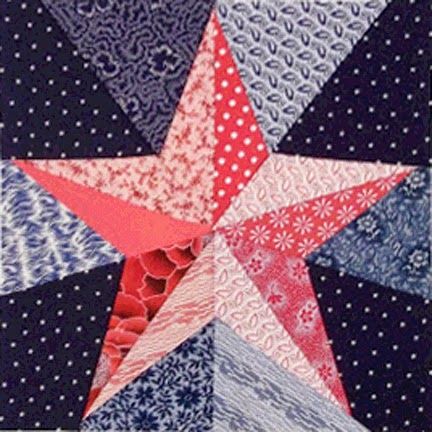 Barbara Brackman S Material Culture Pieced Five Pointed Star