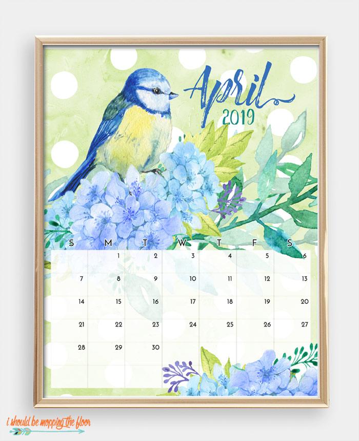April Bird Calendar