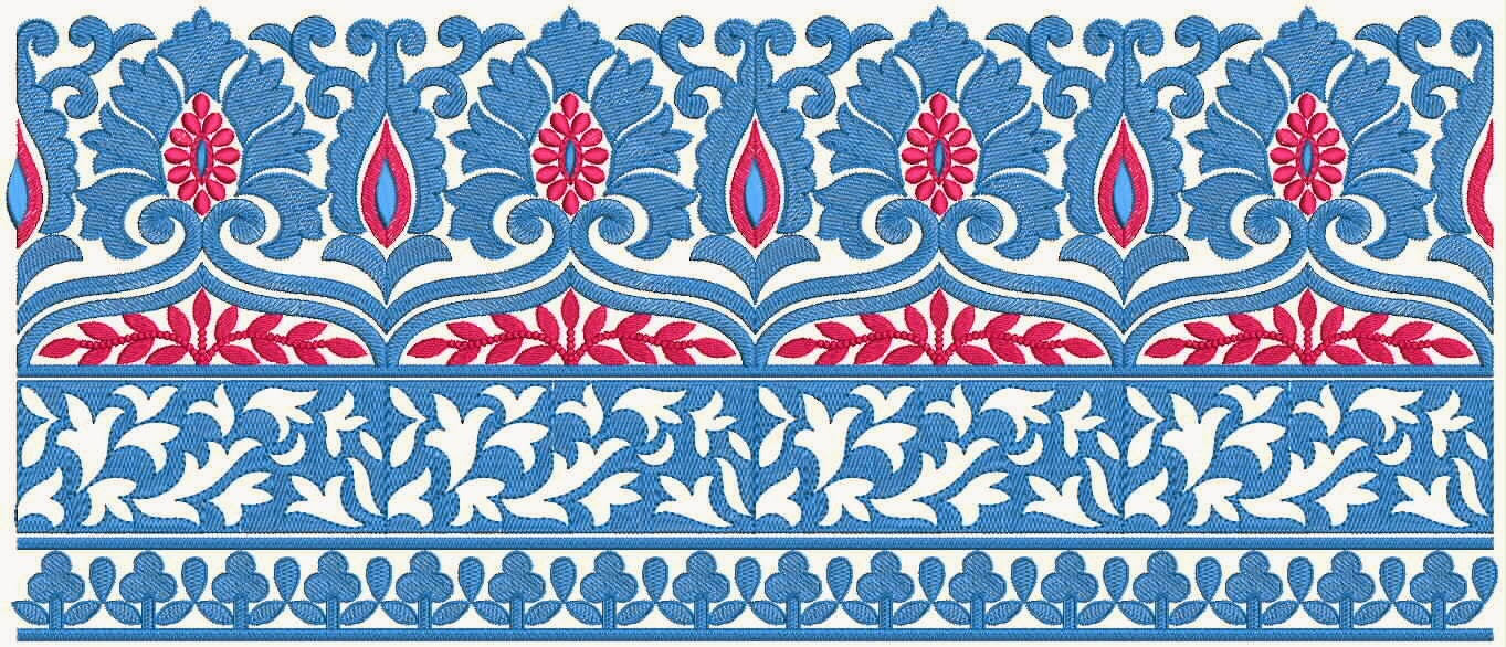 Embdesigntube Indian Colorful Lace Border Designs Collection