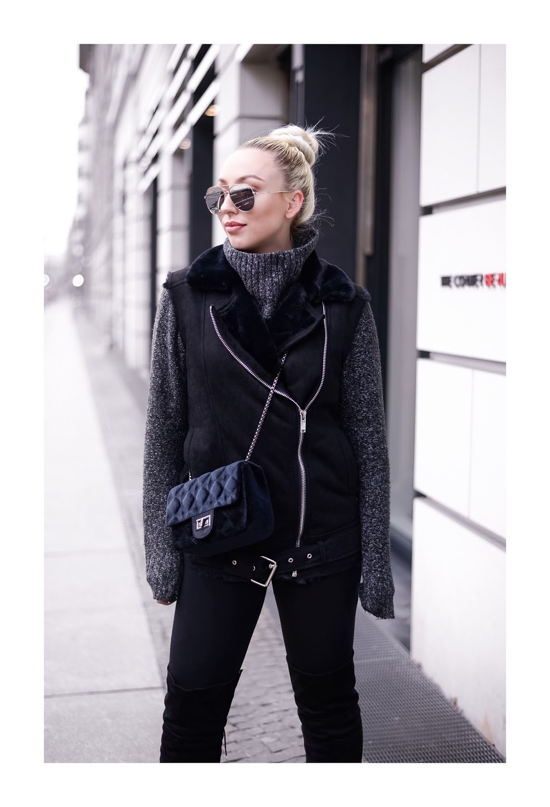 all black outfit_winter streetstyle_fashionblogger_russian girls