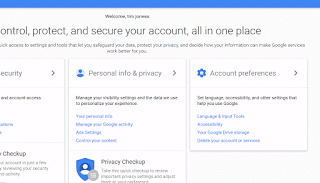 Welcome message after Google Account Creation