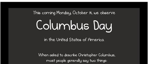 Meaningful Christopher Columbus Day Quotes