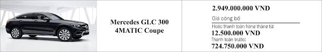 Giá xe Mercedes GLC 300 4MATIC Coupe 2019 tại thị trường Việt Nam