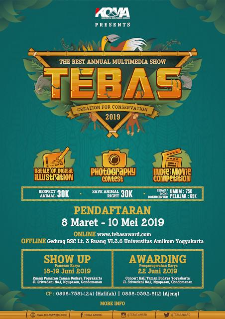 Kompetisi Kreasi Multimedia Nasional TEBAS 2019 Umum