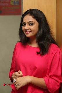 Actress Arundathi Nair Stills in Red Chididar at Bethaludu Success Meet  0028.JPG