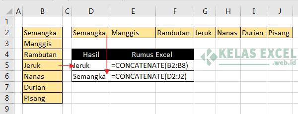 Rumus Concatenate Error