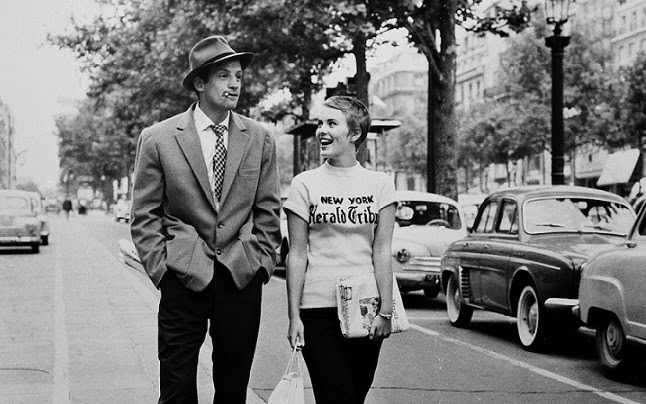 al final de la escapada jean-paul belmondo jean seberg new yorh herald tribune michel patricia Jean-Luc Godard french new wave nouvelle vague