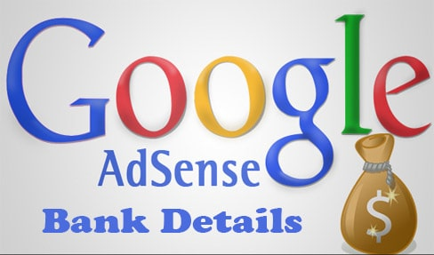 How to add bank details to a Google Adsense account