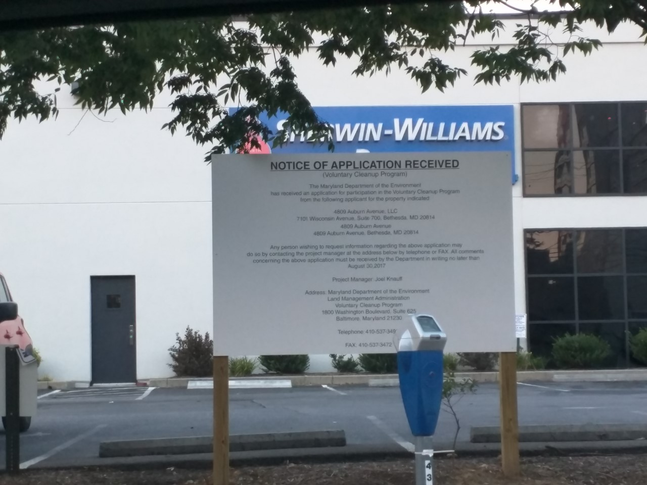 There S A New Sign That The Sherwin Williams Paint Is Being Read For Future Redevelopment Literally Has Been Posted On Property At