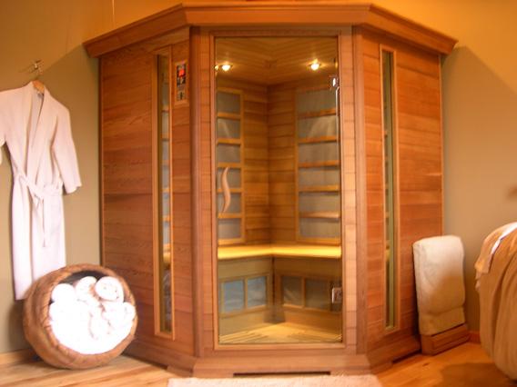 sauna infrarouge lointain. Black Bedroom Furniture Sets. Home Design Ideas