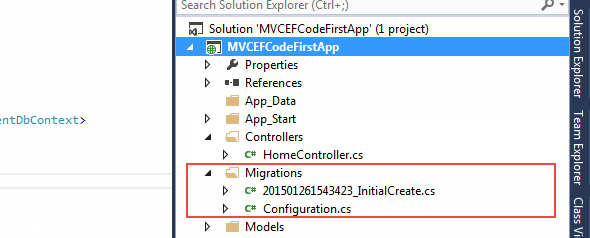 enable migration in entity framework code first approach