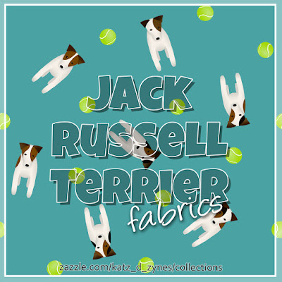 Jack Russell / Parson Russell Terrier fabrics collection from katzdzynes on Zazzle
