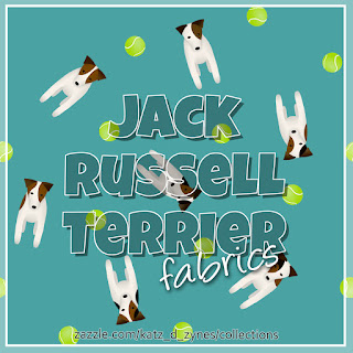 Jack Russell Terriers patterned fabrics collection from katzdzynes on Zazzle