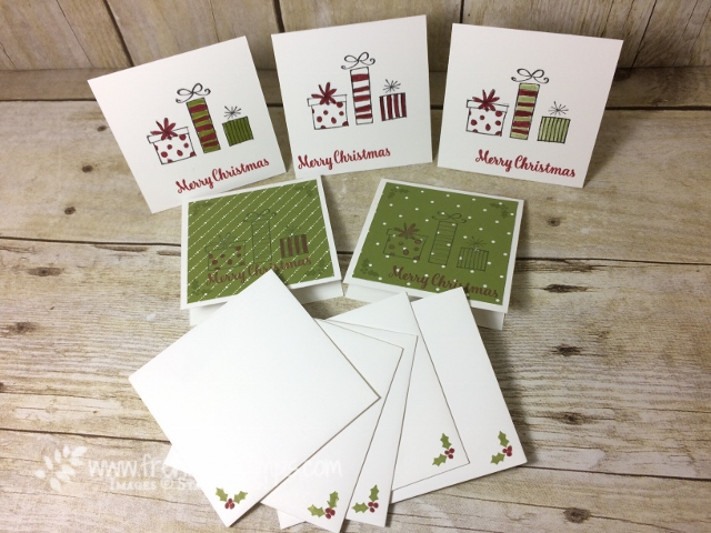 Happiest of Days, Star of Lights, Stampin'Up! 3 x 3 cards